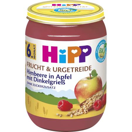 HiPP Himbeere in Apfel mit Dinkelgrieß 6. Monat