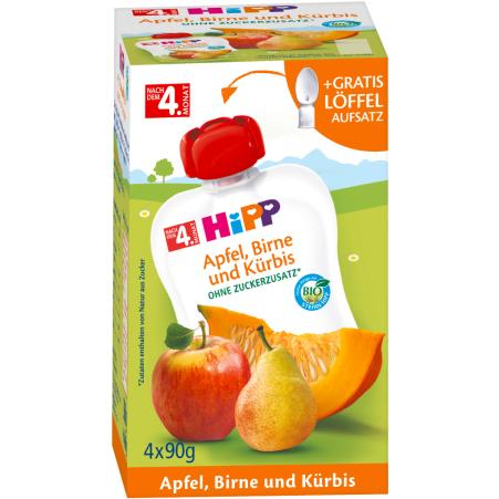 HiPP Beutel Apfel-Birne-Kürbis 4er-Packung