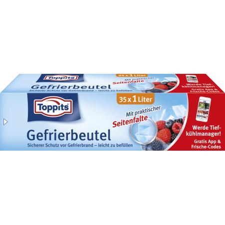 TOPPITS Toppits Gefrierbeutel 1,0 Liter