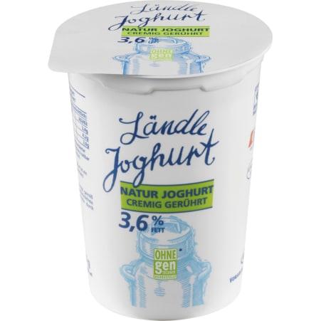 Vorarlberg Milch Ländle Naturjoghurt cremig 3,6% 500 gr