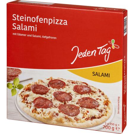 Jeden Tag Steinofenpizza Salami 2er-Packung