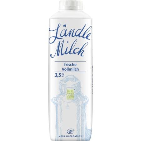 Vorarlberg Milch Ländle frische Vollmilch 3,5% 1,0 Liter