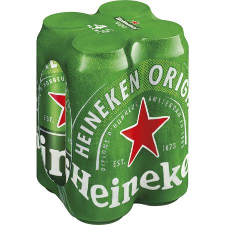 Heineken Bier Tray 4x 0,5 Liter Dose