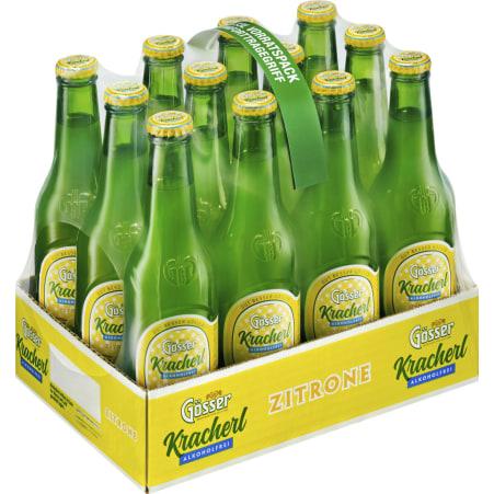 Gösser Kracherl Zitrone Tray 12x 0,33 Liter Einweg-Flasche