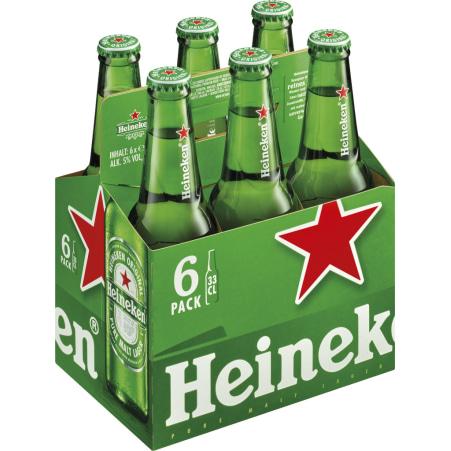 Heineken Bier Tray 6x 0,5 Liter Einweg-Flasche