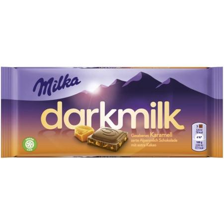 MILKA Schokolade Darkmilk Salz Karamell