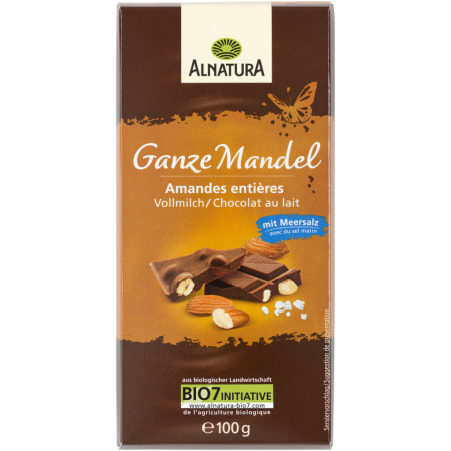 Alnatura Bio Schokolade Ganze Mandel Vollmilch