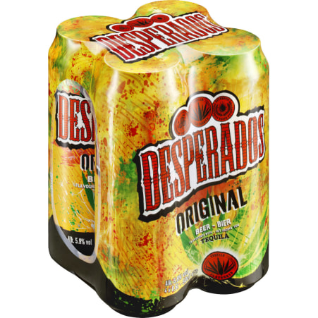 Desperados Tequilabeer Tray 4x 0,5 Liter Dose