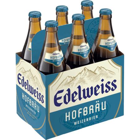 Edelweiss Hofbräu Tray 6x 0,5 Liter