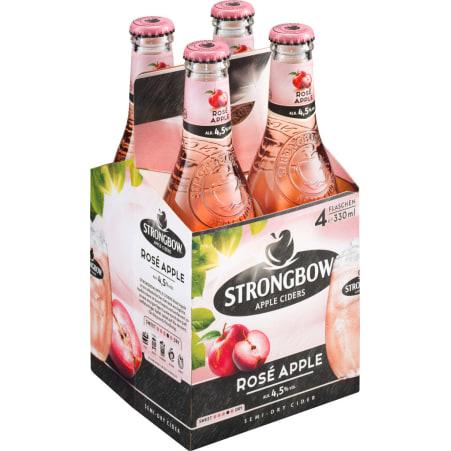 Strongbow Cider Rose Apple Tray 4x 0,33 Liter Einweg-Flasche