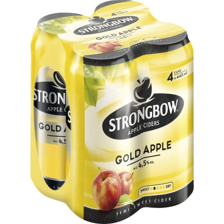 Strongbow Cider Gold Tray 4x 0,44 Liter Dose