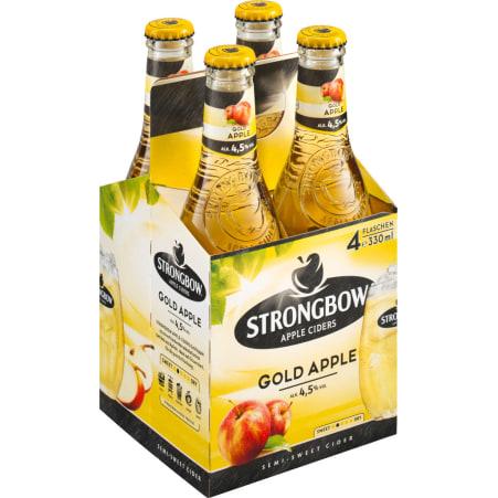Strongbow Apple Cider Gold Tray 4x 0,33 Liter Einweg-Flasche