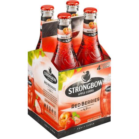 Strongbow Cider Red Berries Tray 4x 0,33 Liter Einweg-Flasche