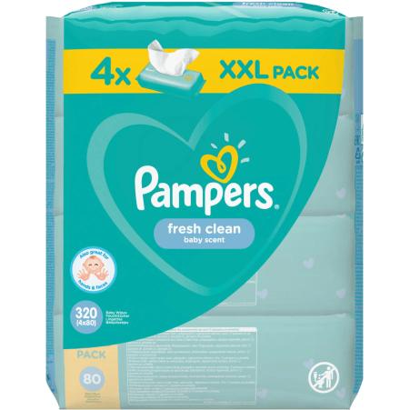 Pampers Feuchttücher Fresh Clean 4er-Packung