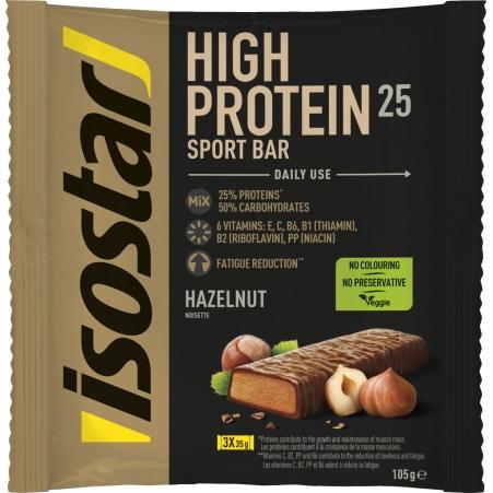 Isostar Powerplay High Proteinriegel Hazelnut 3er-Packung
