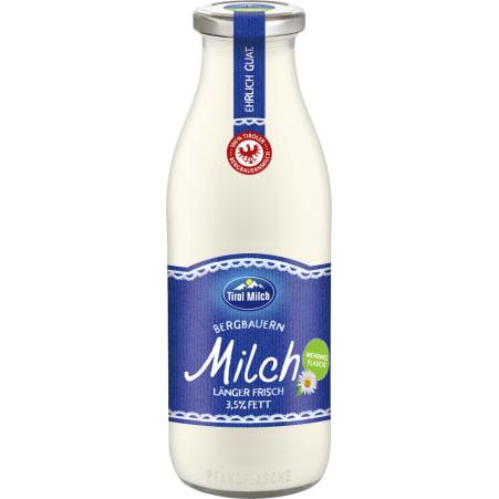 Tirol Milch Bergbauern Milch länger frisch 3,5% Mehrweg-Flasche