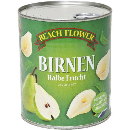 Beach Flower Birnen halbe Frucht gezuckert