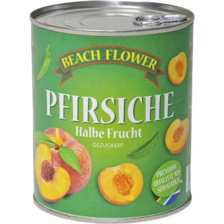 Beach Flower Pfirsiche halbe Frucht gezuckert
