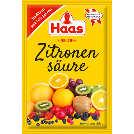 Haas Zitronensäure 5er-Packung