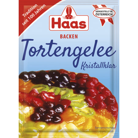 Haas Tortengelee Kristallklar 3er-Packung