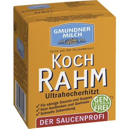 Gmundner Milch Haltbarer Kochrahm 22%