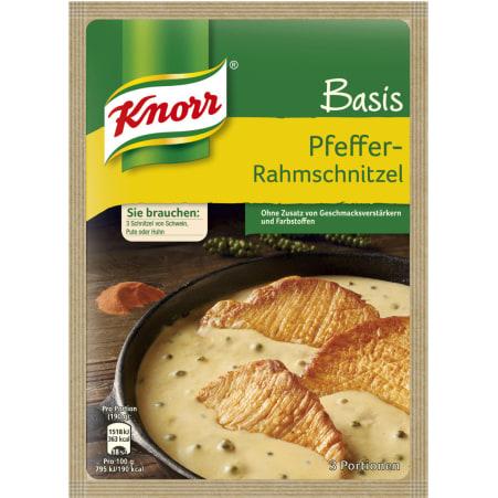 Knorr Basis Pfeffer-Rahmschnitzel