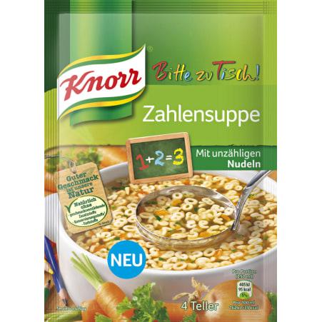 Knorr Bitte zu Tisch Zahlensuppe
