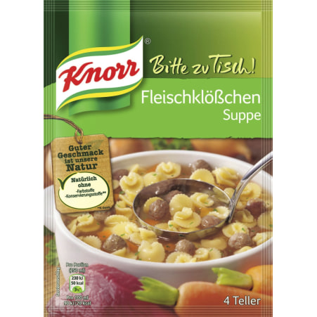 Knorr Bitte zu Tisch Fleischklößchen Suppe