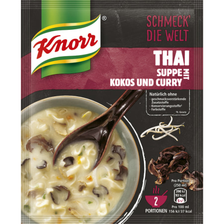 Knorr Schmeck die Welt Thaisuppe mit Kokos & Curry