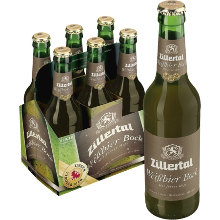 Zillertal Bier Weißbier Bock Tray 6x 0,33 Liter