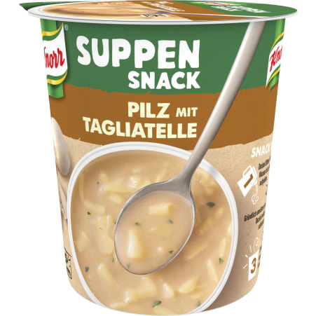 Knorr Suppen Snack Pilz mit Tagliatelle