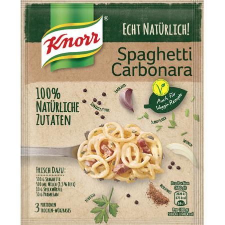 Knorr Echt Natürlich Spaghetti Carbonara