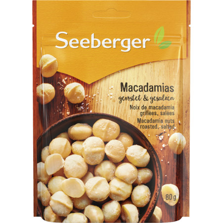 Seeberger Macadamia geröstet & gesalzen