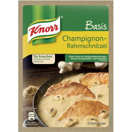 Knorr Basis Champignon-Rahmschnitzel