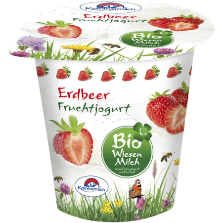 Kärntnermilch Bio Wiesenmilch Joghurt Erdbeer