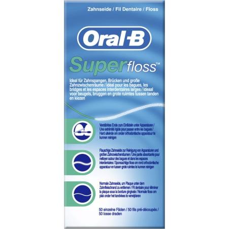 Oral-B Zahnseide 50er-Packung Superfloss