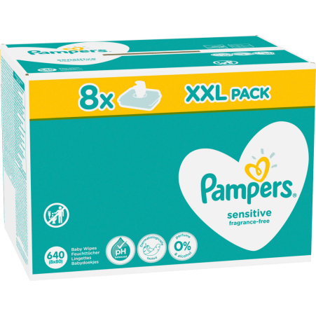 Pampers Sensitiv Feuchttücher 8er-Packung