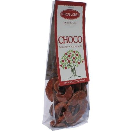 Stroblobst Apfelringe mit Schokolade