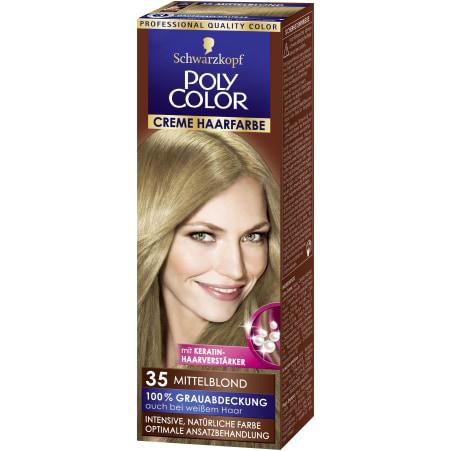 Poly Color Cremehaar Creme Haarfarbe Mittelblond