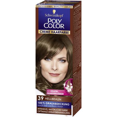 Poly Color Cremehaar Poly Color Creme Haarfarbe Hellbraun