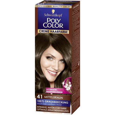 Poly Color Cremehaar Creme Haarfarbe Mittelbraun