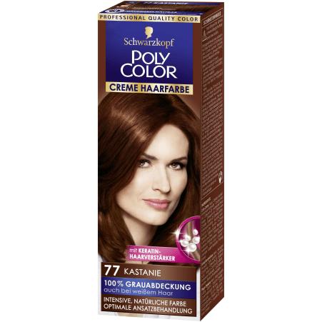 Poly Color Cremehaar Poly Color Creme Haarfarbe Kastanie