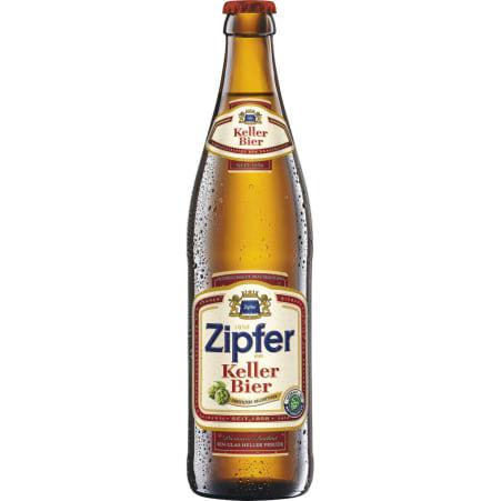 ZIPFER BIER Kellerbier Kiste 20x 0,5 Liter Mehrweg-Flasche