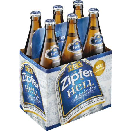ZIPFER BIER Hell alkoholfrei Tray 6x 0,5 Liter