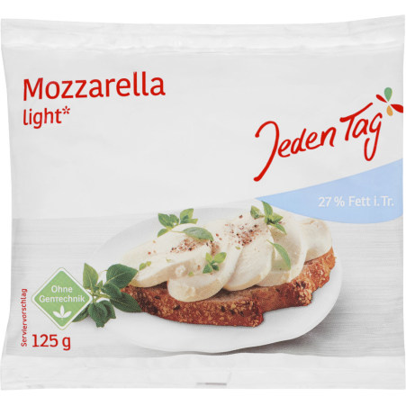 Jeden Tag Mozzarella leicht