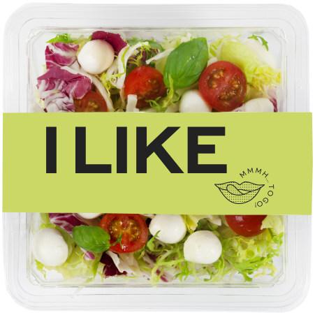 I LIKE Salat mit Mozzarella Topping