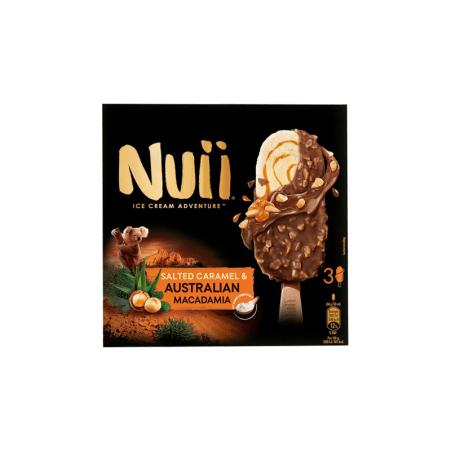 NUII Salted Caramel & Australian Macadamia 3er-Packung