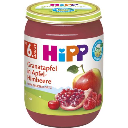 HiPP Bio Granatapfel in Apfel-Himbeere 6. Monat