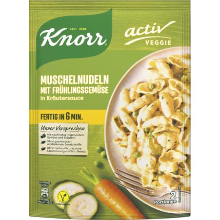Knorr Veggie Muschelnudeln mit Frühlingsgemüse