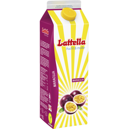 Lattella frucht & molke Maracuja 1,0 Liter